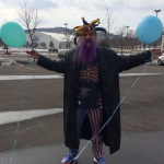 Jester for Jesus Birthday with Balloons