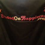 Stoned On Happiness back of Dons jacket